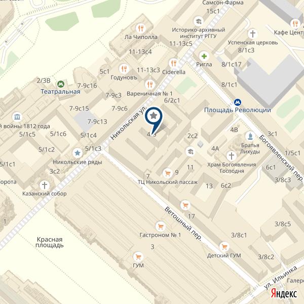 Как добраться в Skyvory в SO Showroom на Никольской, Москва, карта